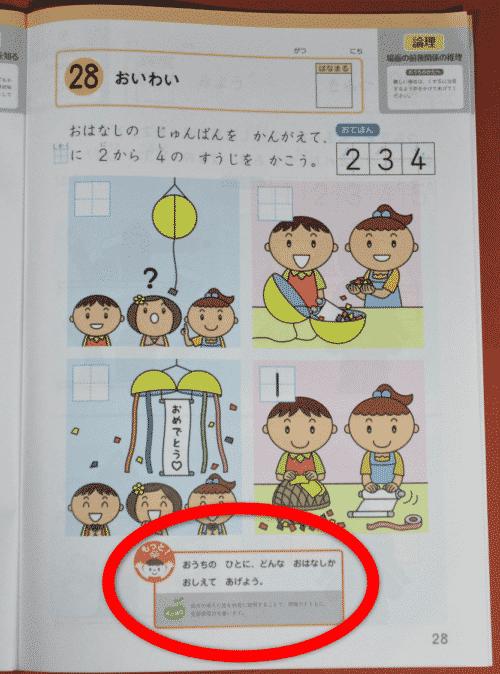 Z会幼児コース考えるちからワーク
