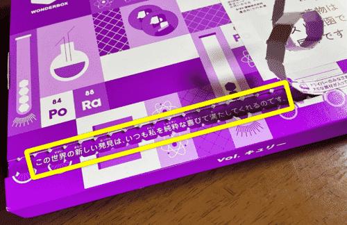 ワンダ―ボックス・キュリー外箱