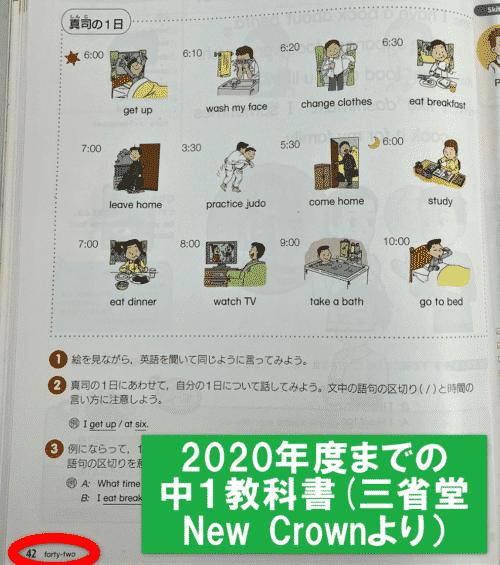 2020年までの中1英語教科書